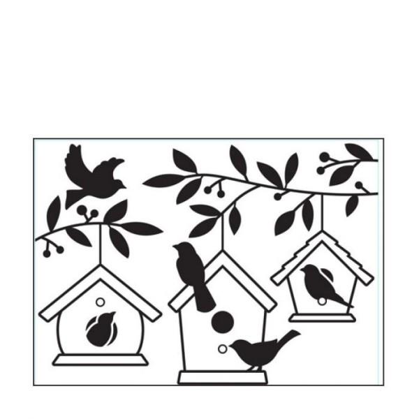 Die classeur d'embossage maisons d'oiseaux dans les arbres - Photo n°1