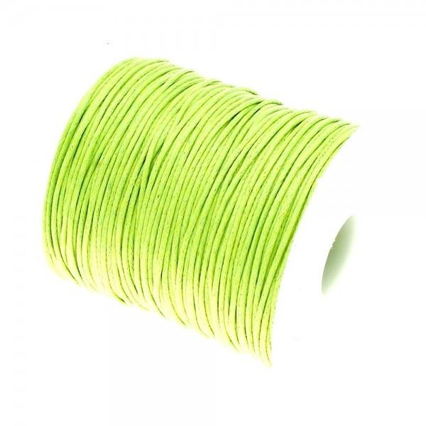 160428090701 PAX 1 Bobine d'environ 70m de fil en coton ciré 1mm Vert Flashy NO 2BIS - Photo n°1