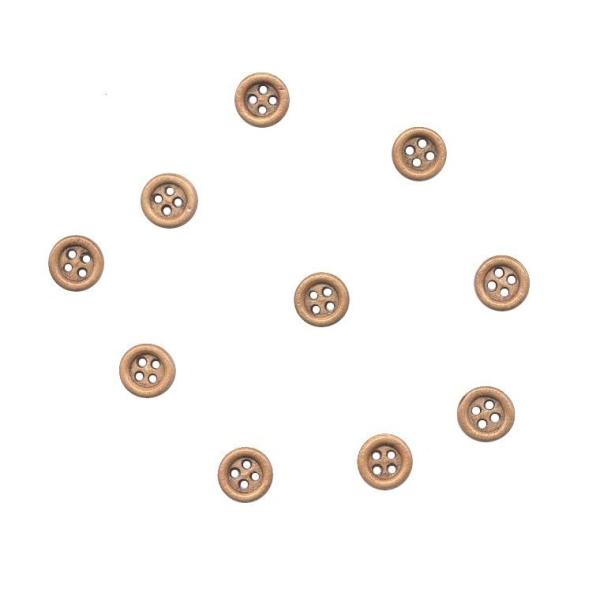 10 boutons en bois 9 mm pour Scrapbooking ou Couture - Photo n°1