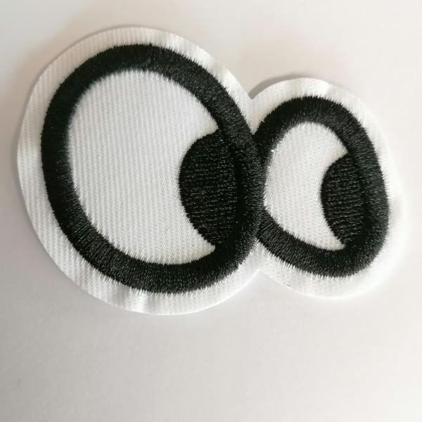 Un thermocollant yeux, noir et blanc - Photo n°1