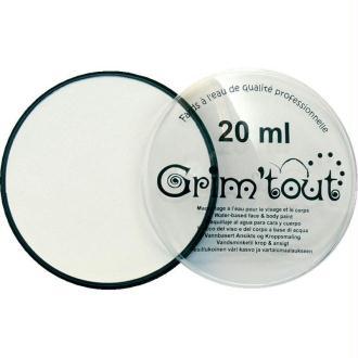 Maquillage professionnel Grim'tout Fard Blanc Galet 20 ml - Sans paraben