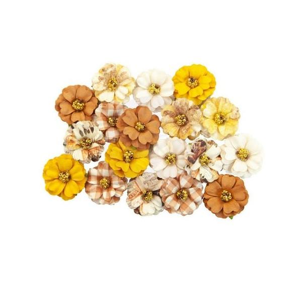 18 pièces fleur feuille en papier scrapbooking décoration PRIMA MARKETING 808 - Photo n°1