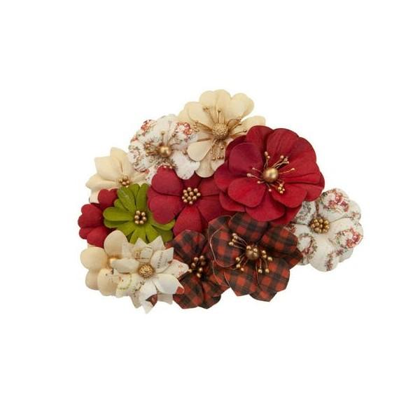 12 pièces fleur en papier scrapbooking décoration PRIMA MARKETING 525 - Photo n°1
