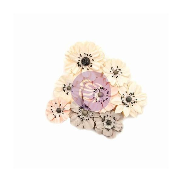 8 pièces fleurs en papier scrapbooking décoration PRIMA MARKETING 009 - Photo n°1