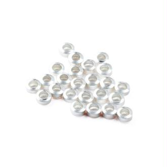 Lot de 10 perles à écraser argenté   2  mm rondes petites gris clair