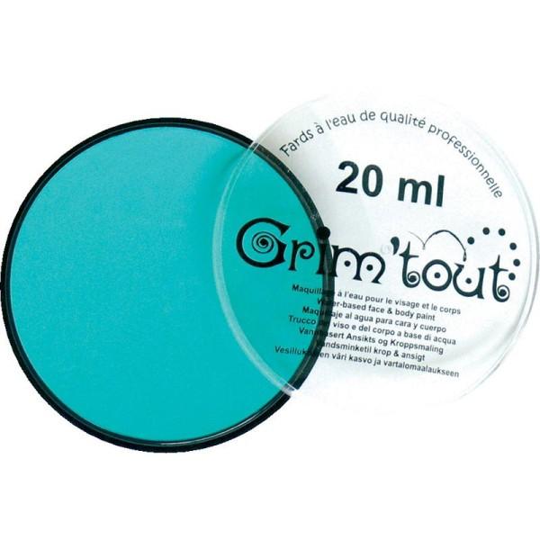 Maquillage professionnel Grim'tout Fard Bleu Lagon Galet 20 ml - Sans paraben - Photo n°1