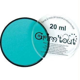 Maquillage professionnel Grim'tout Fard Bleu Lagon Galet 20 ml - Sans paraben