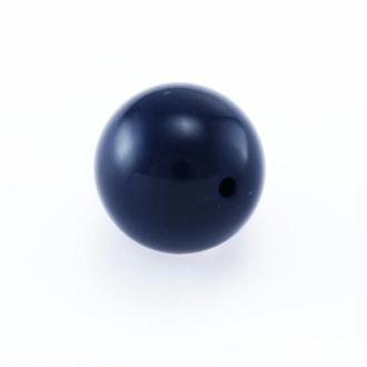 Lot de 10 perles rondes résine bleu foncé (marine) 10mm tr 2 mm