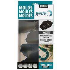 Moules en silicone - Puzzle Geode - 37 x 25 cm - 6 pcs