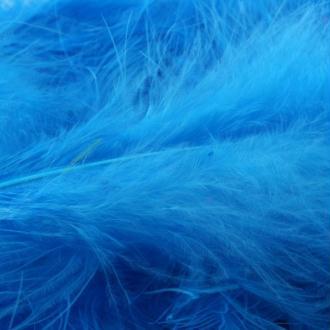 Lot de 10 plumes marabout véritables bleu fluo en vrac