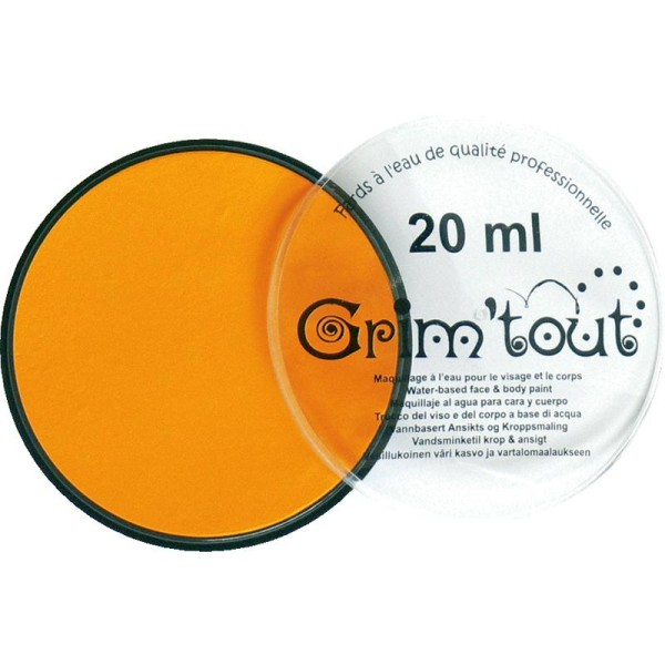 Maquillage professionnel Grim'tout Fard Jaune soleil Galet 20 ml - Sans paraben - Photo n°1
