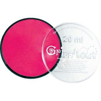 Maquillage professionnel Grim'tout Fard Rose vif Galet 20 ml - Sans paraben