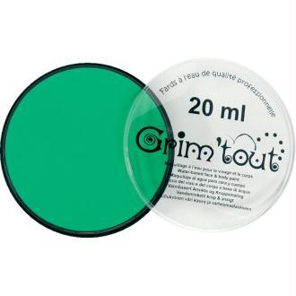 Maquillage professionnel Grim'tout Fard Vert pré Galet 20 ml - Sans paraben