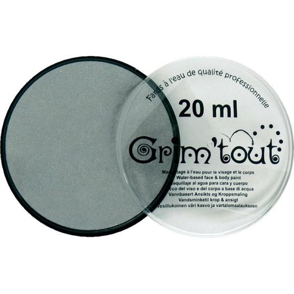 Maquillage professionnel Grim'tout Fard Argent métallique Galet 20 ml - Sans paraben - Photo n°1