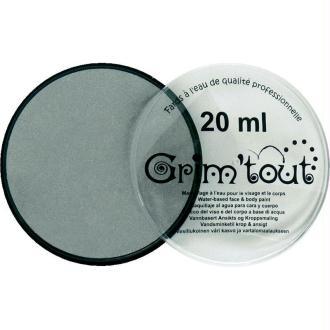 Maquillage professionnel Grim'tout Fard Argent métallique Galet 20 ml - Sans paraben