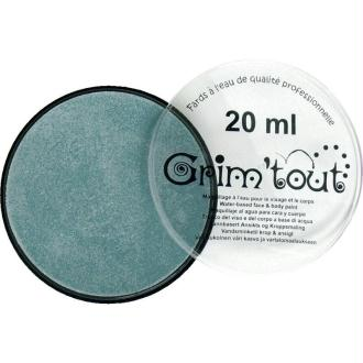 Maquillage professionnel Grim'tout Fard Bleu nacré Galet 20 ml - Sans paraben