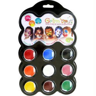 Maquillage Carnaval 9 couleurs Grim'tout - Sans paraben