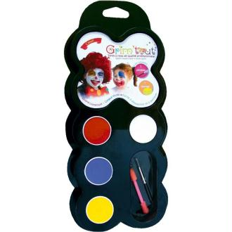 Maquillage Clown 4 couleurs Grim'tout - Sans paraben