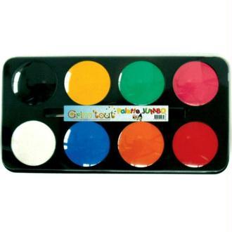 Maquillage école Grim'tout 8 galets Jumbo pour 500 enfants - Sans paraben