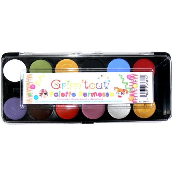 Maquillage Grim'tout 12 couleurs Kermesse - Sans paraben - Photo n°1