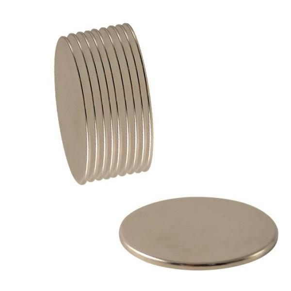 Aimants ronds néodyme - 10 mm x 10 - Photo n°1