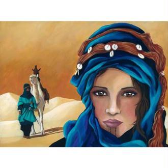 Image 3D Femme - Femme du désert 30 x 40 cm