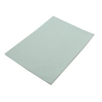 Un feuille de cuir véritable 18.4x21cm qualité souple vert menthe