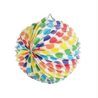 Lampion multicolore à pois
