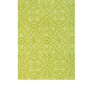 Chemin de table organdi vert arabesque or