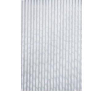 Chemin de table tissu blanc rayures irisées