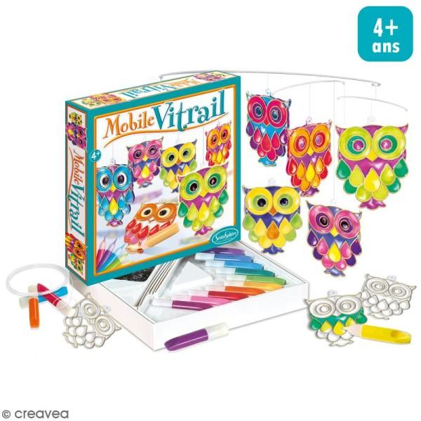 Kit mobile vitrail - Hiboux - Photo n°1