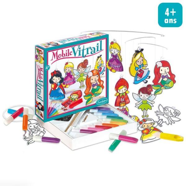 Kit Mobile Vitrail Princesse Jeux Creatifs De 2 A 5 Ans Creavea