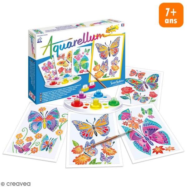 Jeu créatif Aquarellum Junior - Papillons et fleurs - Photo n°1