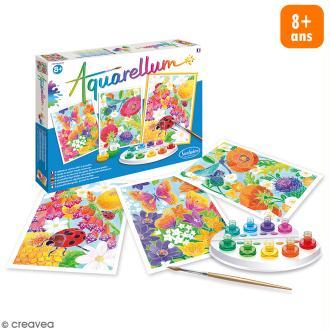 Jeu créatif Aquarellum - Dans les Fleurs