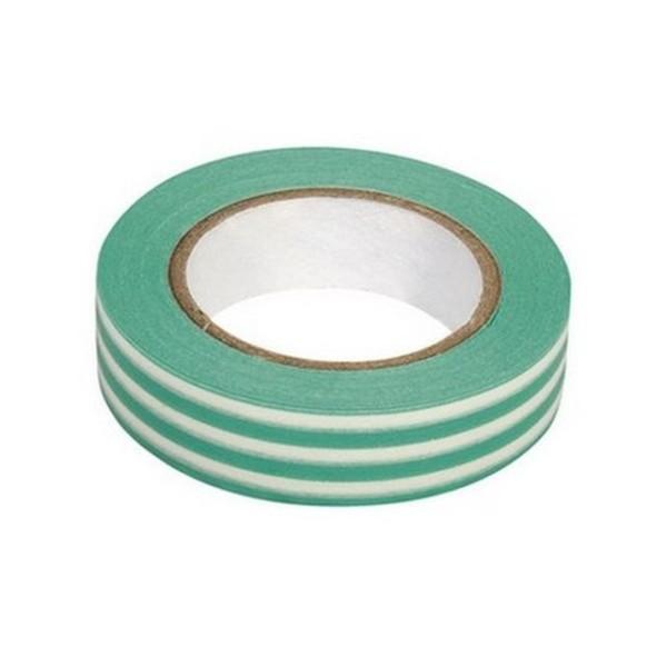 Washi tape à rayures turquoise et blanc - Photo n°1