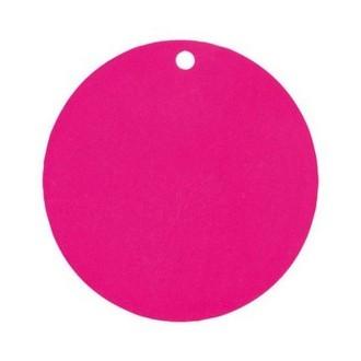 Marque place porte nom étiquette ronde fuschia x10