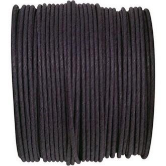 Paper Cord armé noir rouleau 20mètres
