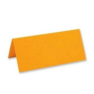 Marque place porte nom chevalet orange clair x25