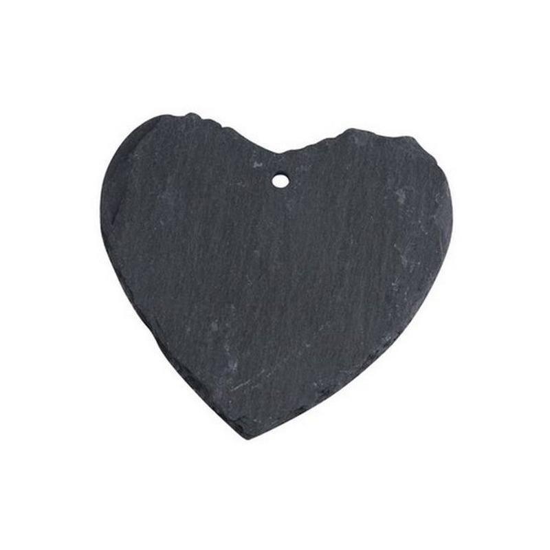Marque place porte nom tiquette coeur en ardoise for Ardoise pour cuisine