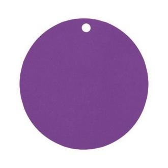 Marque place porte nom étiquette ronde violette x10