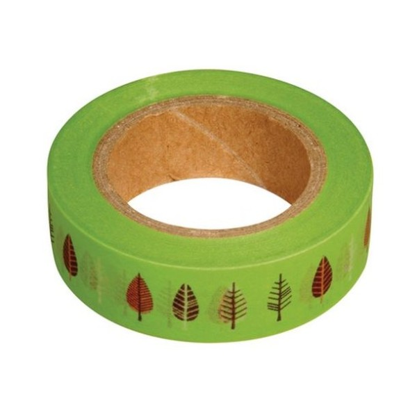 Washi tape vert feuilles - Photo n°1