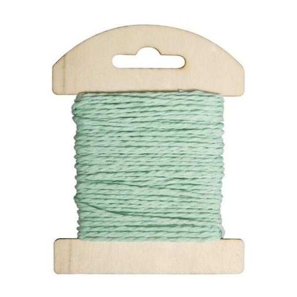 Cordon de papier bleu clair, bobine de 10mètres - Photo n°1