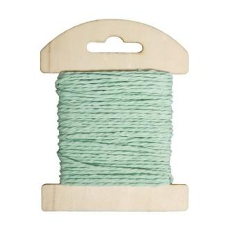 Cordon de papier bleu clair, bobine de 10mètres