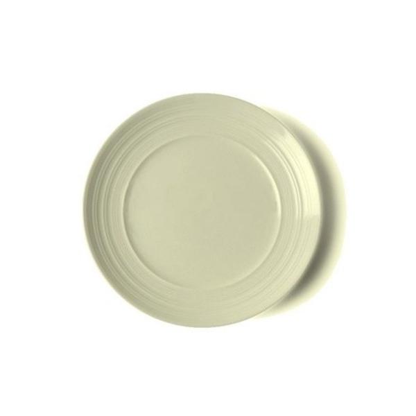 Assiette à dessert ronde écrue striée - Photo n°1