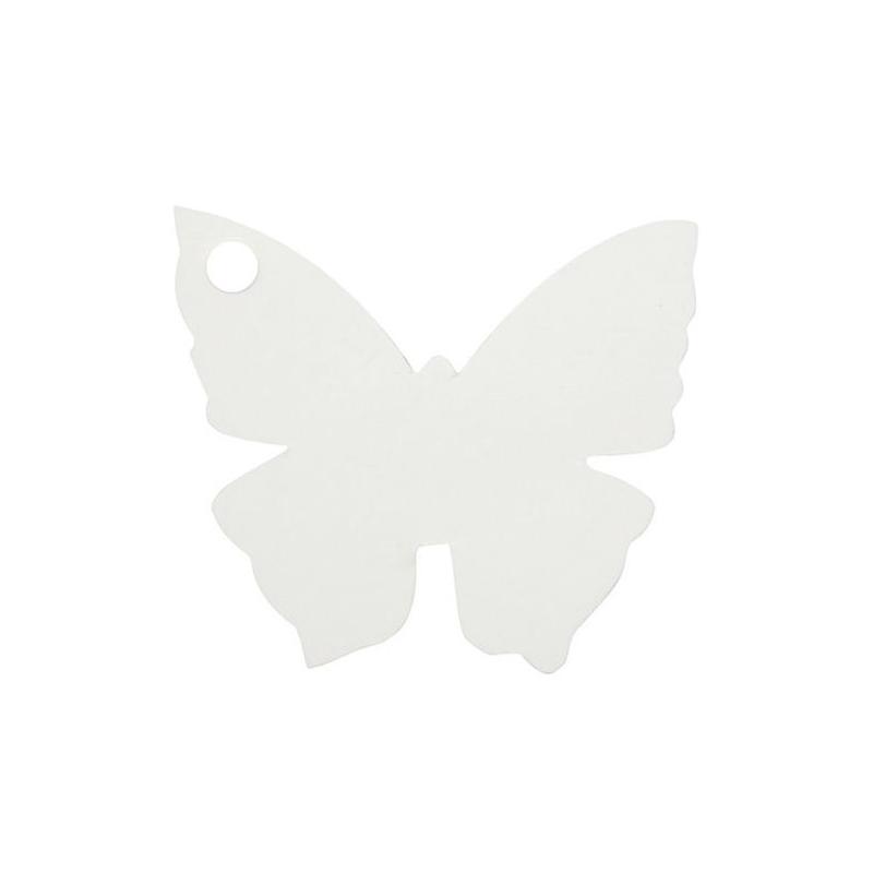 etiquette porte nom papillon blanc x10 marque place papier creavea. Black Bedroom Furniture Sets. Home Design Ideas