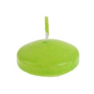 Bougie flottante D3,5cm vert anis x4