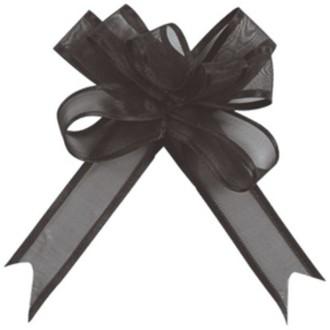 Mini noeud Organdi noir x5