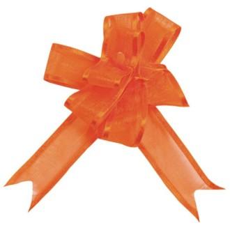 Mini noeud Organdi orange x5
