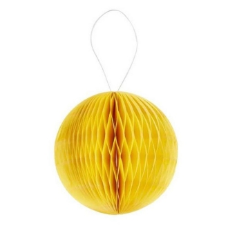 Boule alvéolée 3D 8cm jaune x4