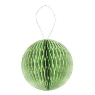 Boule alvéolée 3D 8cm vert anis x4